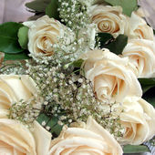 Magnificent bouquet of white rose