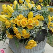 Yellow Roses and Tulips