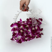 A basket of orchids