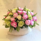 A basket of fresh roses