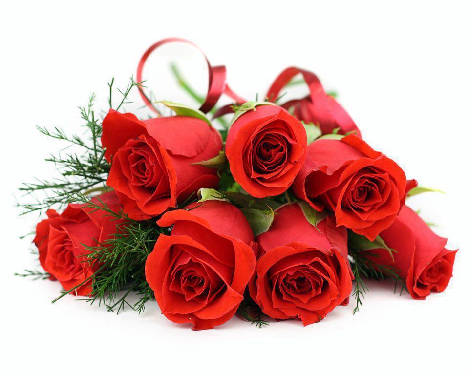 Bouquet Mawar Merah Wallpaper Hd