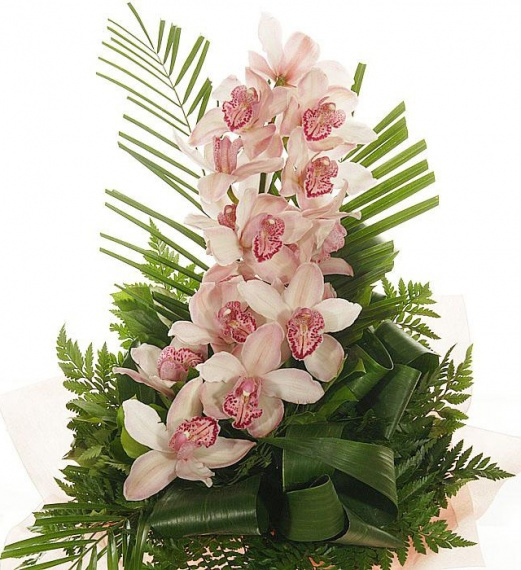 Pink orchid decoration