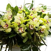Big green orchid bouquet