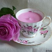 Rose cup candle