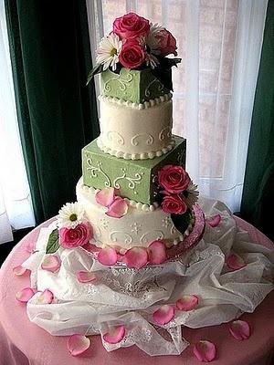Rose Wedding Cake Decoration