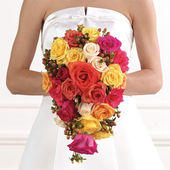 Rose cascade bridal bouquet