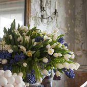 Beautiful tulip centerpiece