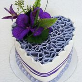Purple orchid cake