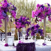 Purple orchids decoration