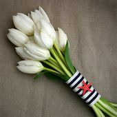 Beautiful white tulip bouquet