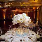 White wedding orchid table decor