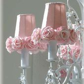 Whimsical rose chandelier