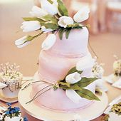 White sugar tulip cake