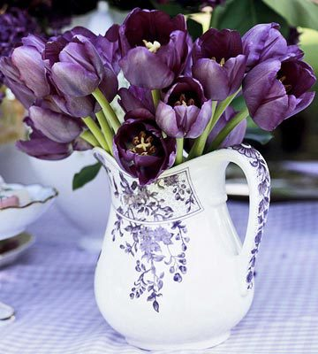 Fine Purple Tulip Centerpiece Download Free Architecture Designs Estepponolmadebymaigaardcom