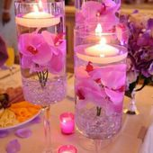 Beautiful orchid centerpieces
