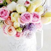A cup of beautiful flowers
