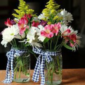 Bunches of spring flowers