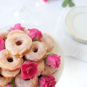 Doughnuts with a Rosewater Icing