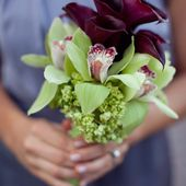 Orchid and calla bouquet