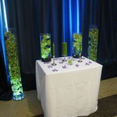 Ceremony green orchid decor
