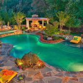 Exotic pool for luxurious outdoor living