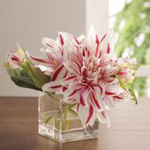 Striped flower centerpiece