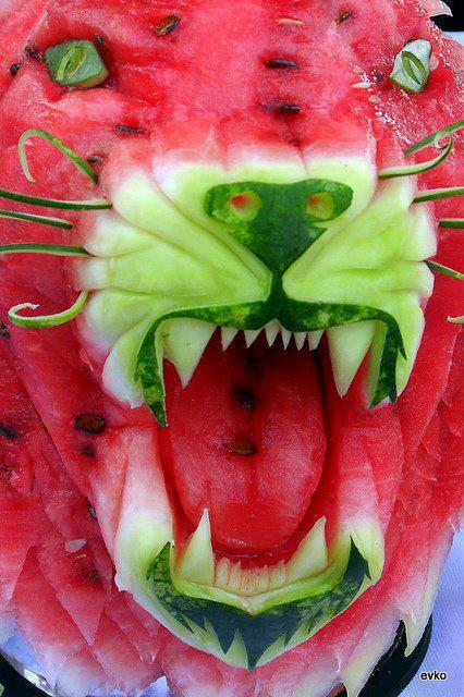 Watermelon carving art