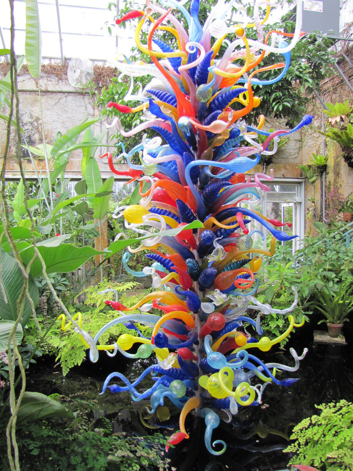 Blown Glass Flowers For Garden