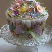 English Country Garden Giant Cupcake