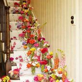 So pretty, colorful and cheerful stairs