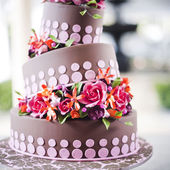 Chocolate-lover's dream wedding cake