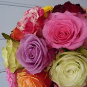 Wedding colorful rose bouquet