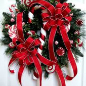 Very fun, candy cane wreath
