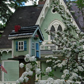 Victorian House with Matching Mailbox