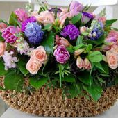 A basket of beautiful flowers