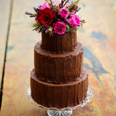 Beautiful 3 Tier Chocolate Cake