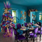 Blue And Purple Christmas Tree Decorations