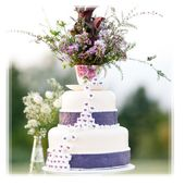 Pretty Teacup Little Purple Hearts Cake