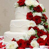 Amazing 3 Tier Rose Cake