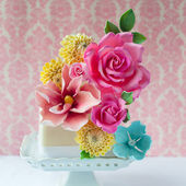 Amazing Floral Topper on Little Cake