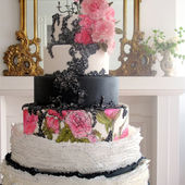 Amazing Frilled Cake with Hand Painted Flowers
