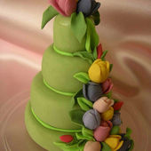 Tulip Cake Decoration