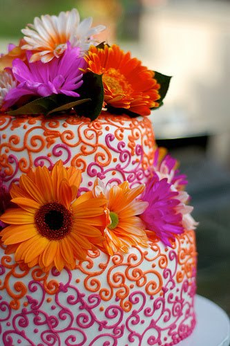 Orange and purple cake