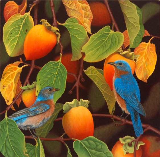Bluebirds and Persimmons