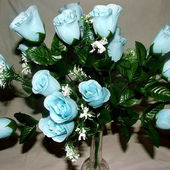 Beautiful Pale Blue Artificial Roses