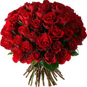 Huge red rose bouquet