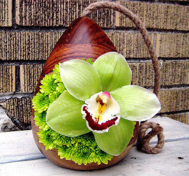 Green Orchid Decoration