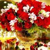 Red Rose Centerpiece