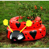 Ladybug from tires