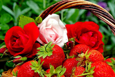 Strawberry and Rose Basket